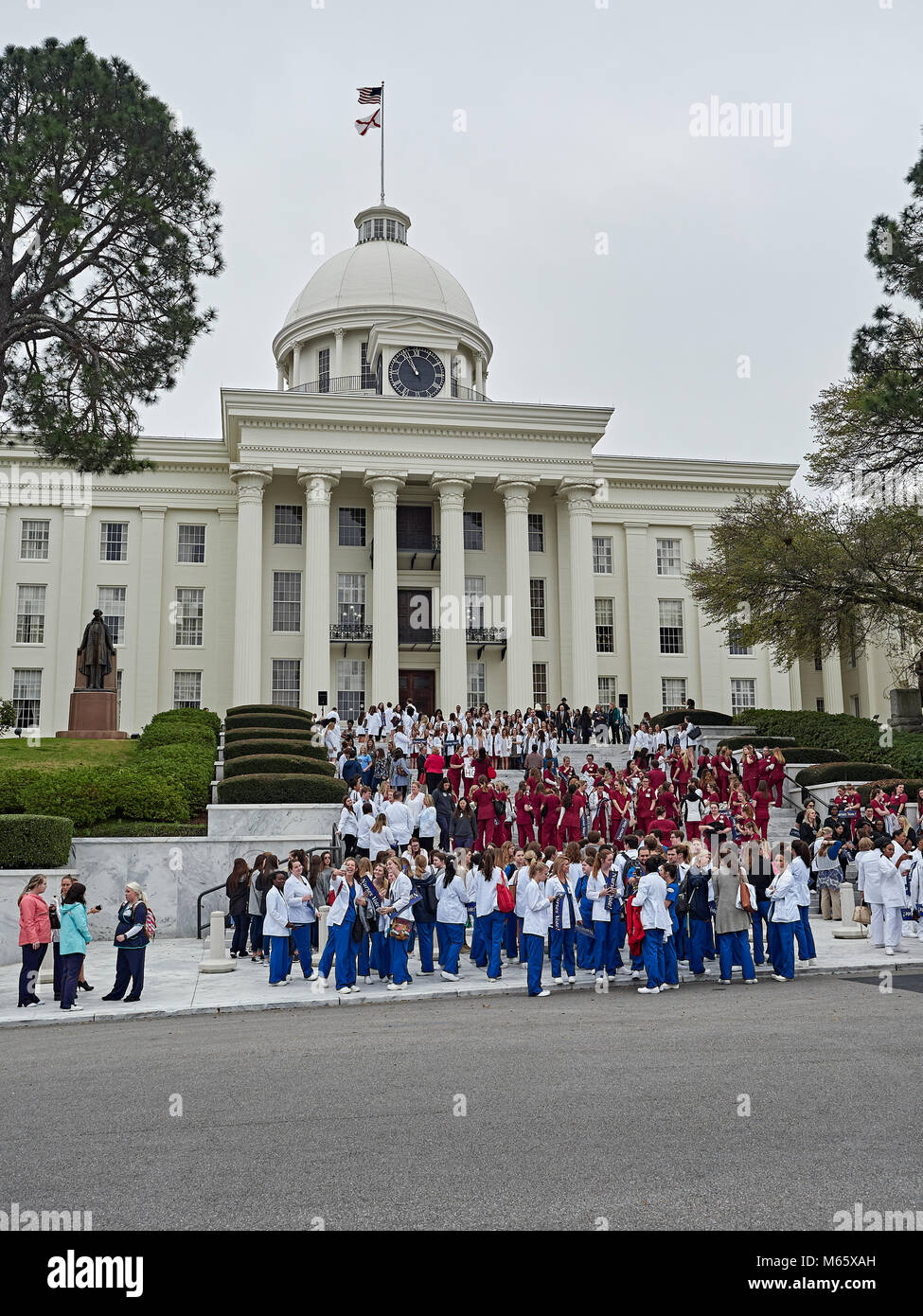 Nurses attend the Alabama Nurses Day at the Capitol, a rally for healthcare related legislation in Montgomery Alabama, - Stock Image