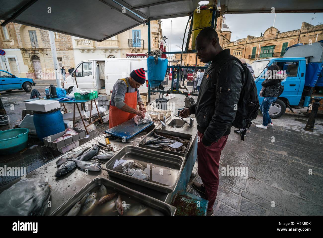 Marsaxlokk fish market stock photos marsaxlokk fish for Local fish market