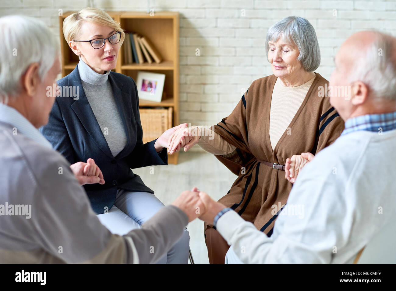 Support Therapy for Senior People - Stock Image