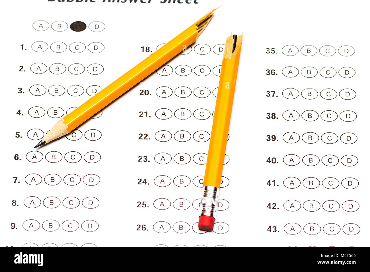 Test Form Stock Photos Amp Test Form Stock Images Alamy