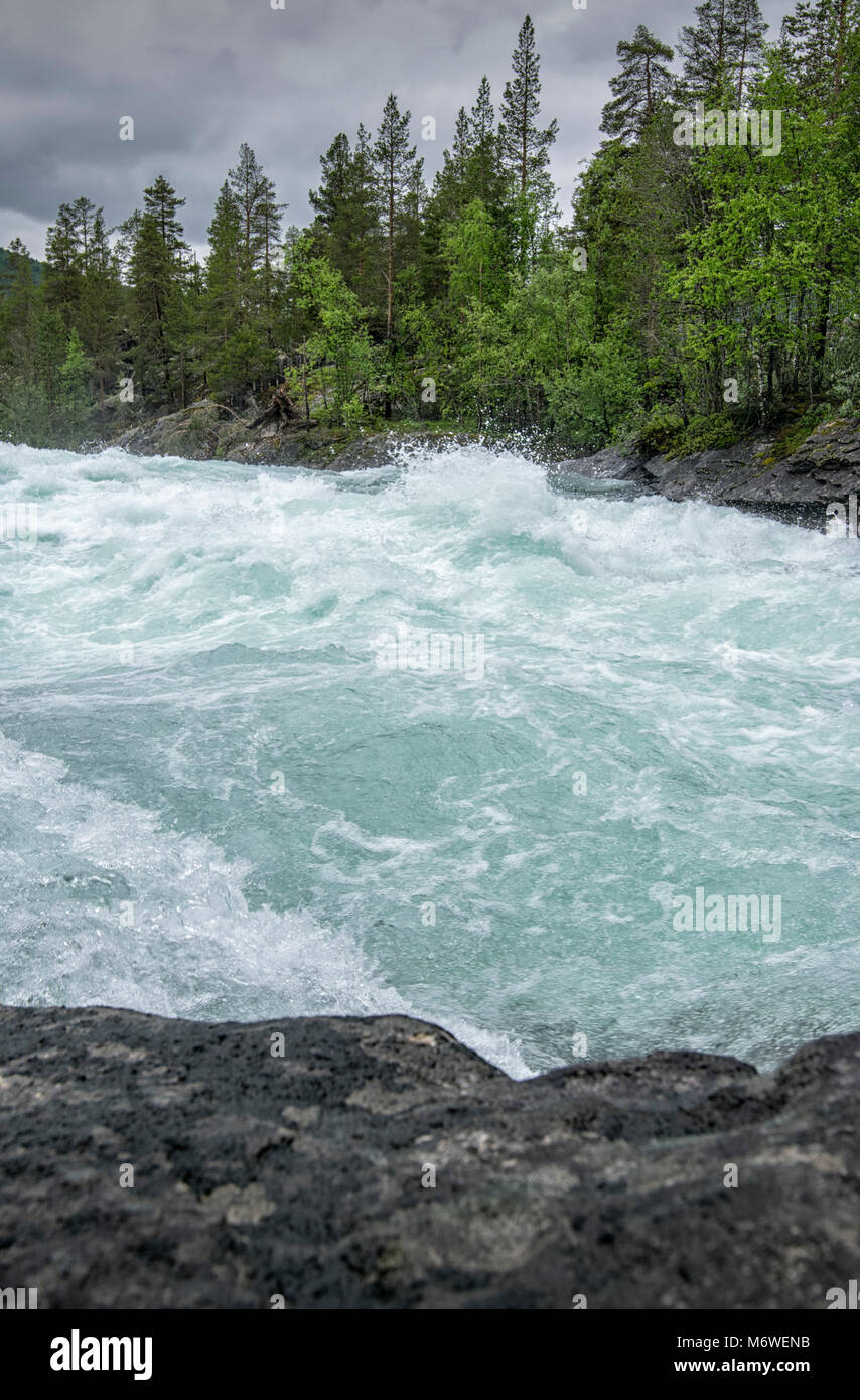 The River Foss in Oppland, Norway - Stock Image