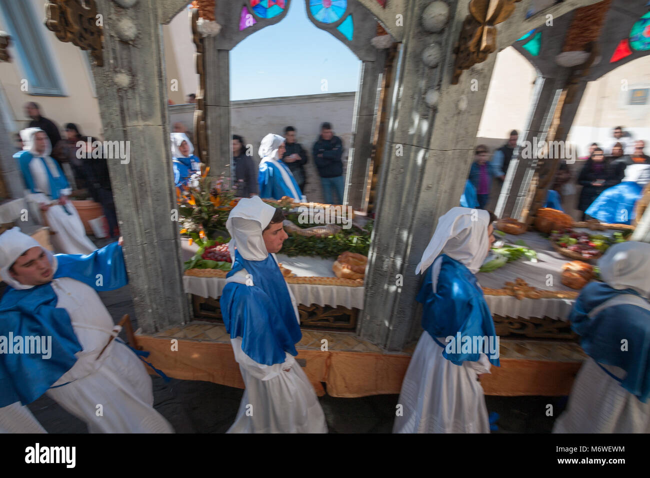 PROCIDA, ITALY - MARCH 29, 2013 - Procida's Good Friday procession is the most famous Easter's celebration - Stock Image