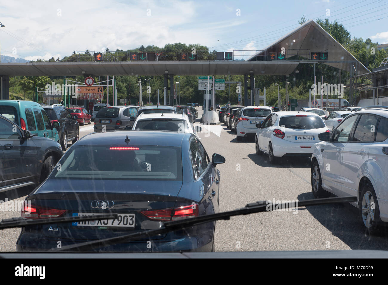 Toll station - Stock Image