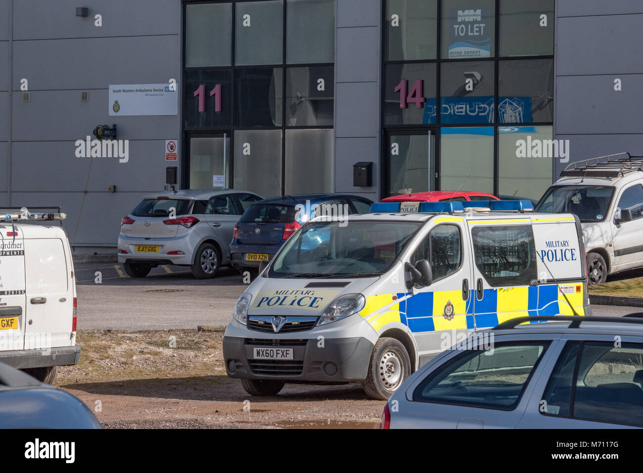 Salisbury, United Kingdom. 7 March 2018. Investigations continue into the suspected poisoning of a former Russian - Stock Image