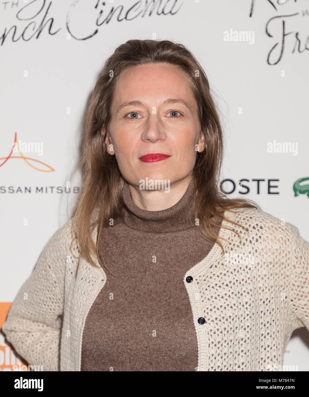 New York, NY, USA - March 8, 2018: Marine Francen attends Renez-Vous with French Cinema Opening Night - Barbara - Stock Image