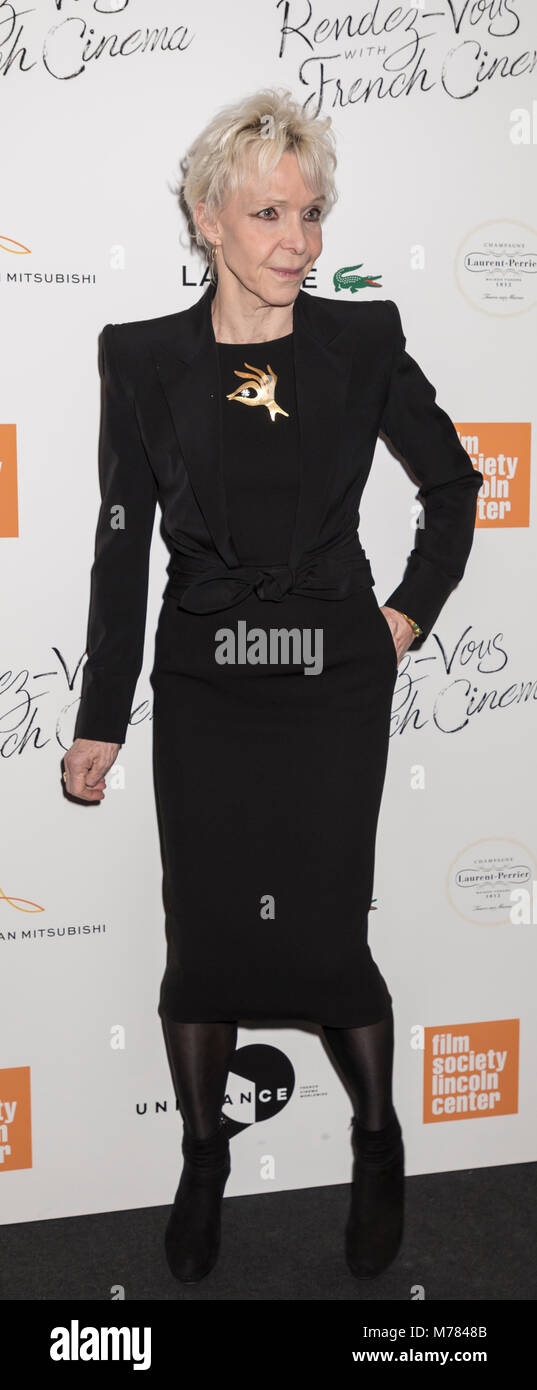New York, NY, USA - March 8, 2018: Tonie Marshall attends Renez-Vous with French Cinema Opening Night - Barbara - Stock Image
