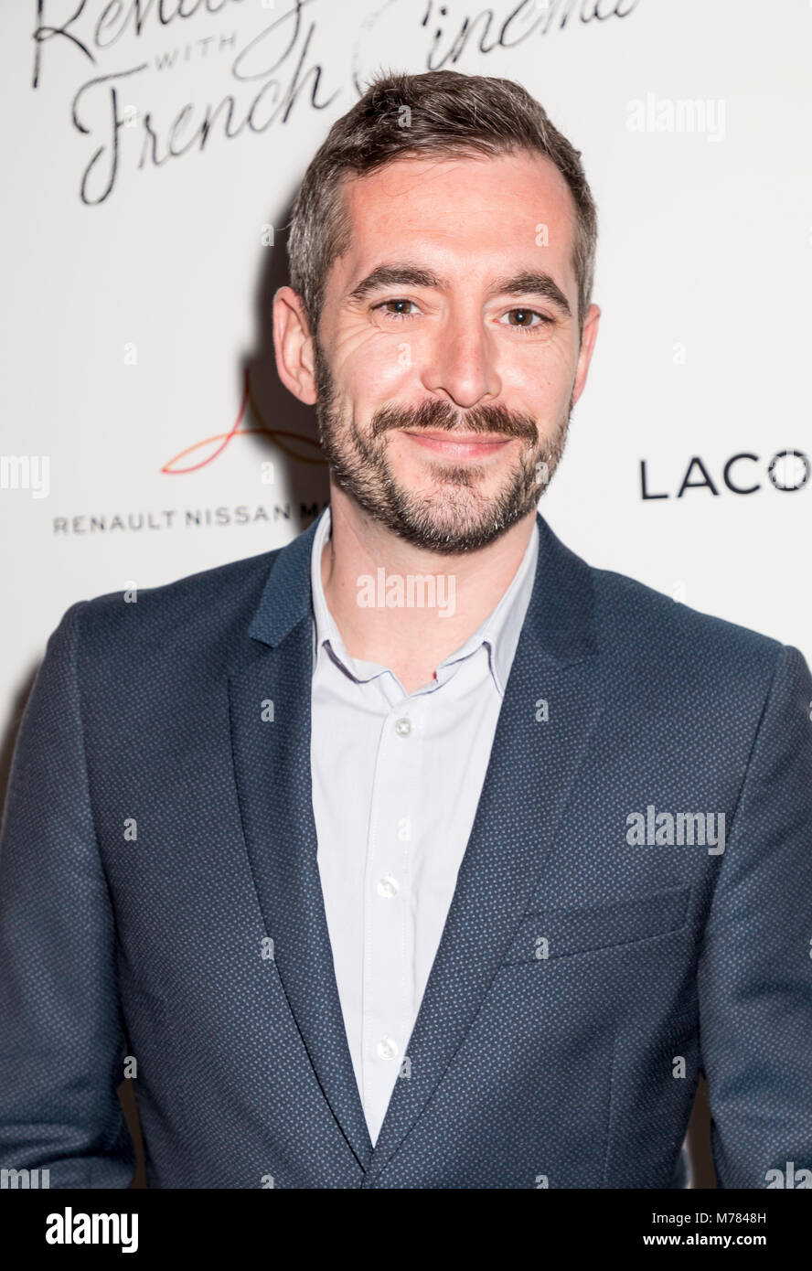 New York, NY, USA - March 8, 2018: Xavier Legrand attends Renez-Vous with French Cinema Opening Night - Barbara - Stock Image