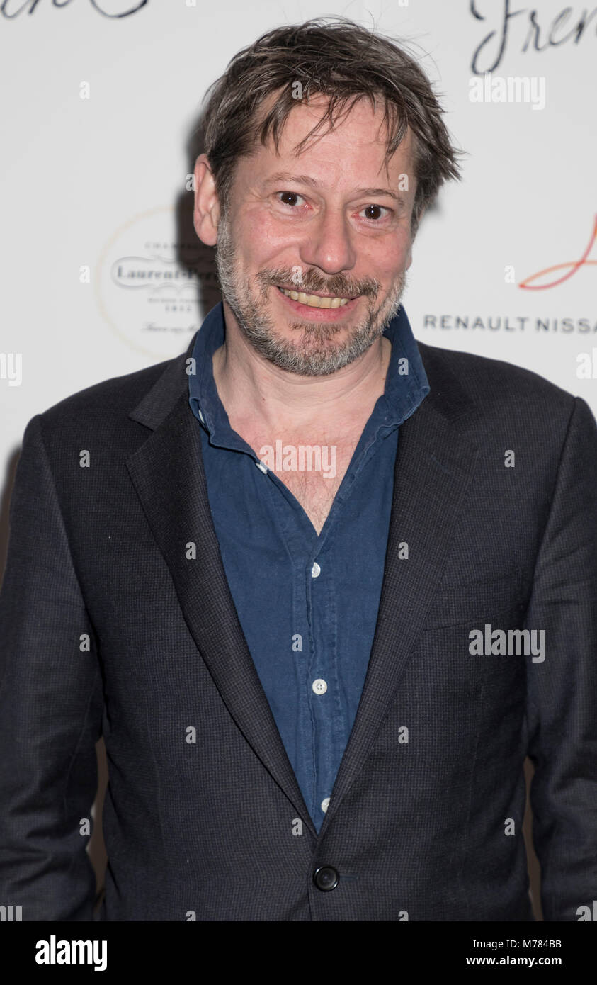 New York, NY, USA - March 8, 2018: Mathieu Amalric attends Renez-Vous with French Cinema Opening Night - Barbara - Stock Image