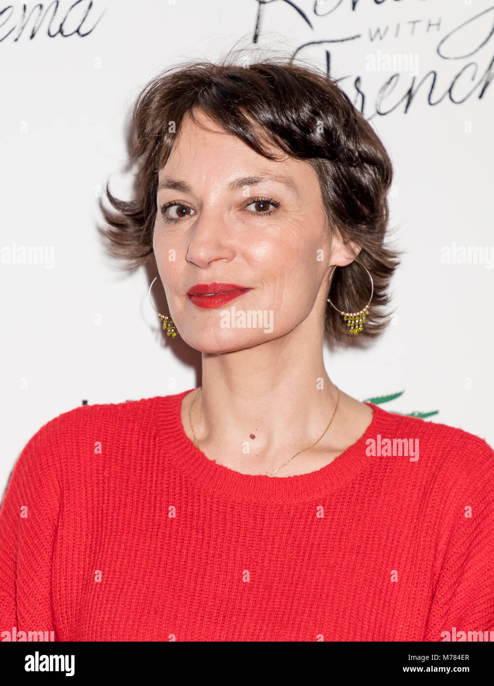 New York, NY, USA - March 8, 2018: Actress Jeanne Balibar attends Renez-Vous with French Cinema Opening Night - - Stock Image
