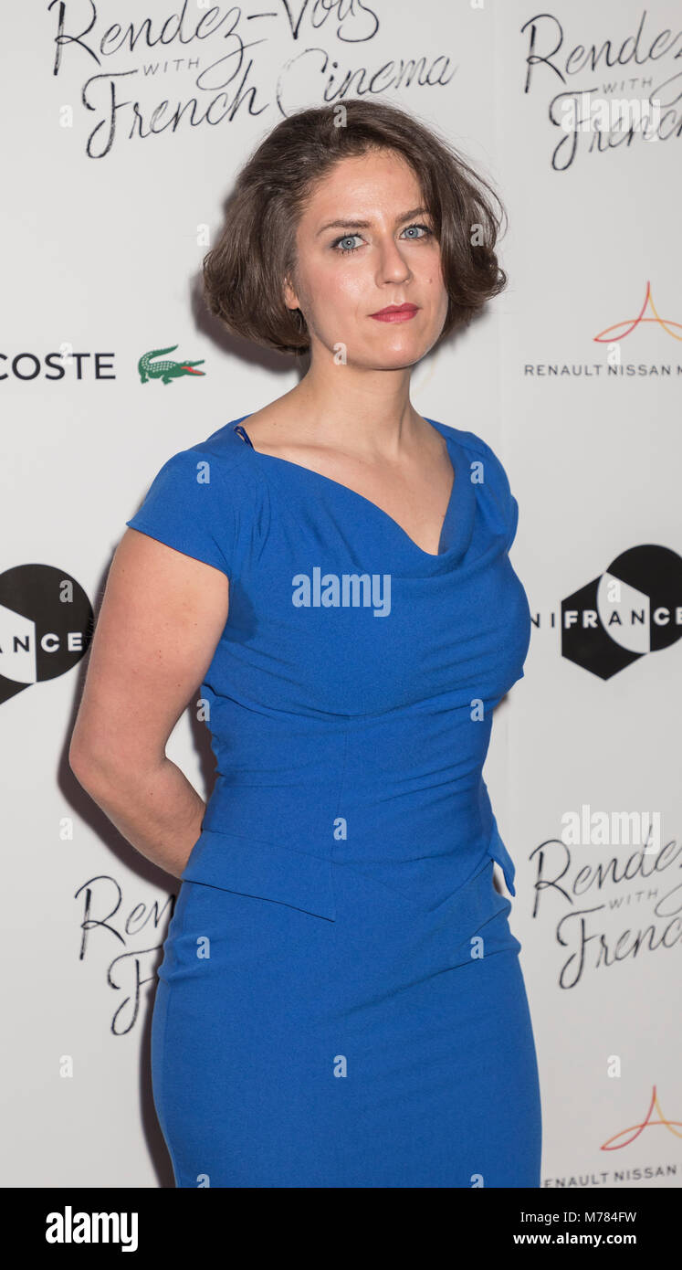 New York, NY, USA - March 8, 2018: Composer Julie Roue attends Renez-Vous with French Cinema Opening Night - Barbara - Stock Image
