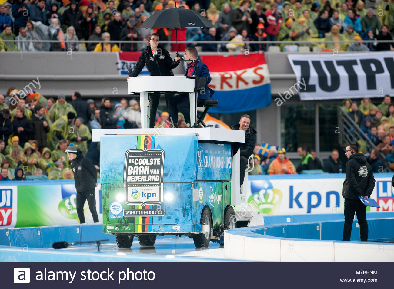 Amsterdam The Netherlands 10th March 2018  World championships allround speed skating.  Womens 1500m  Surreal moment. Stock Photo