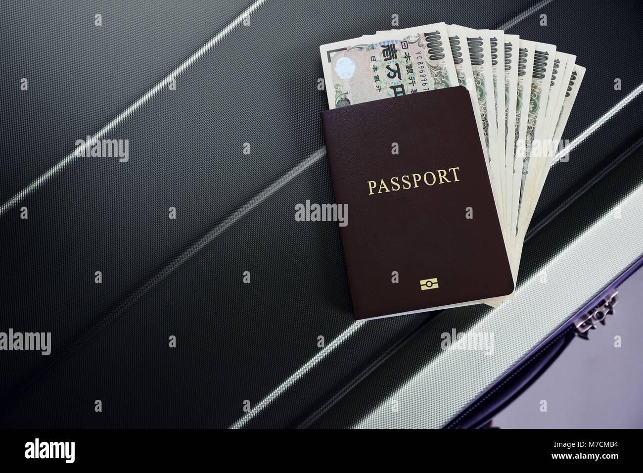 Passport money luggage stock photos passport money for Spa uniform suppliers cape town