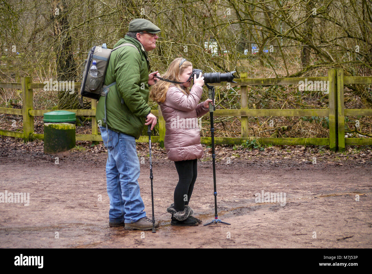 Sherwood Forest, UK. 10th March 2018. Paradise for photographers of all ages mild day for visitors  at the legendary - Stock Image