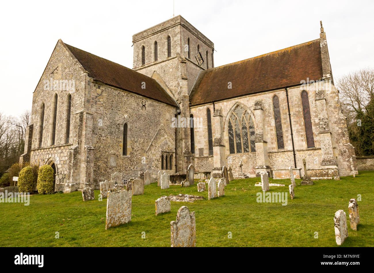 Amesbury Abbey church, Amesbury, Wiltshire, England, UK - Stock Image