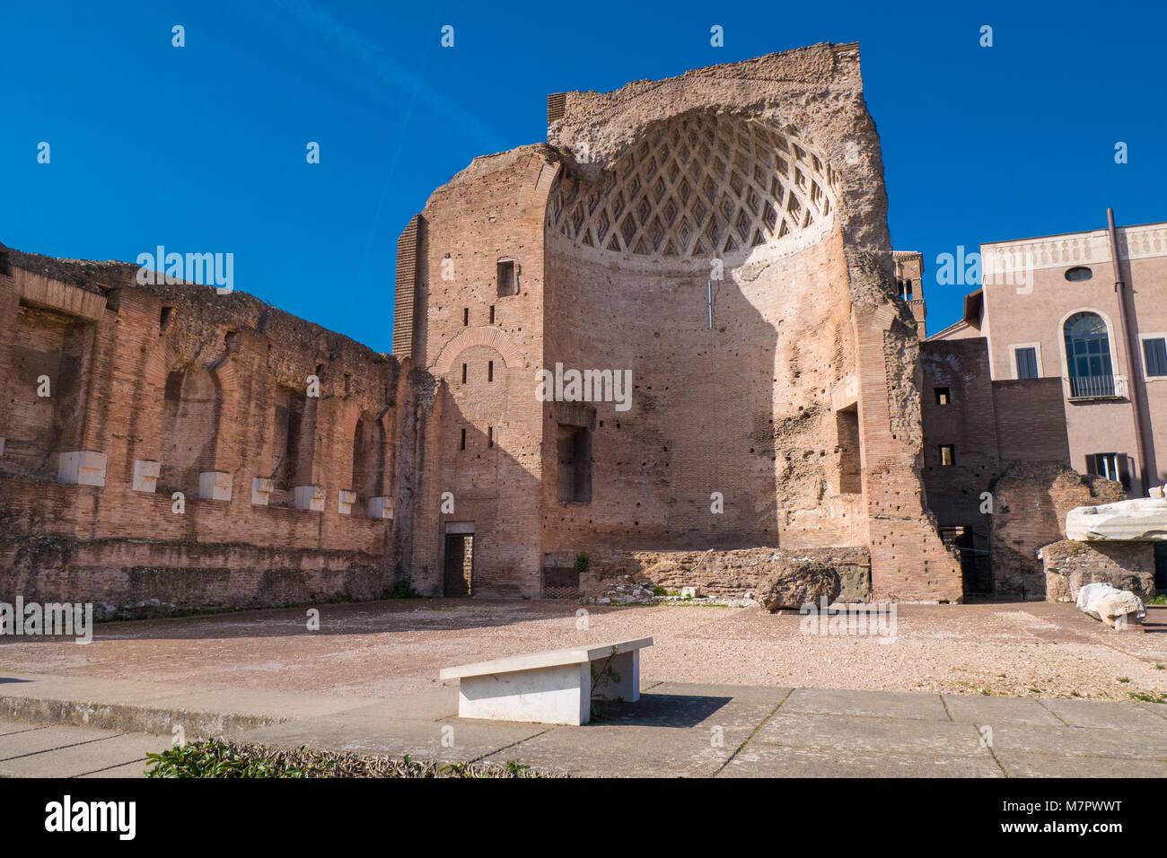 The Temple of Venus (Tempio di Venere), Rome, Italy - Stock Image