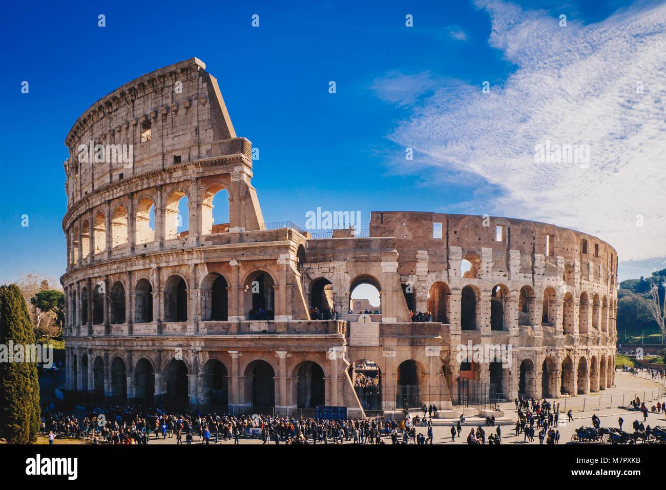 The Roman Colosseum in Rome - Stock Image