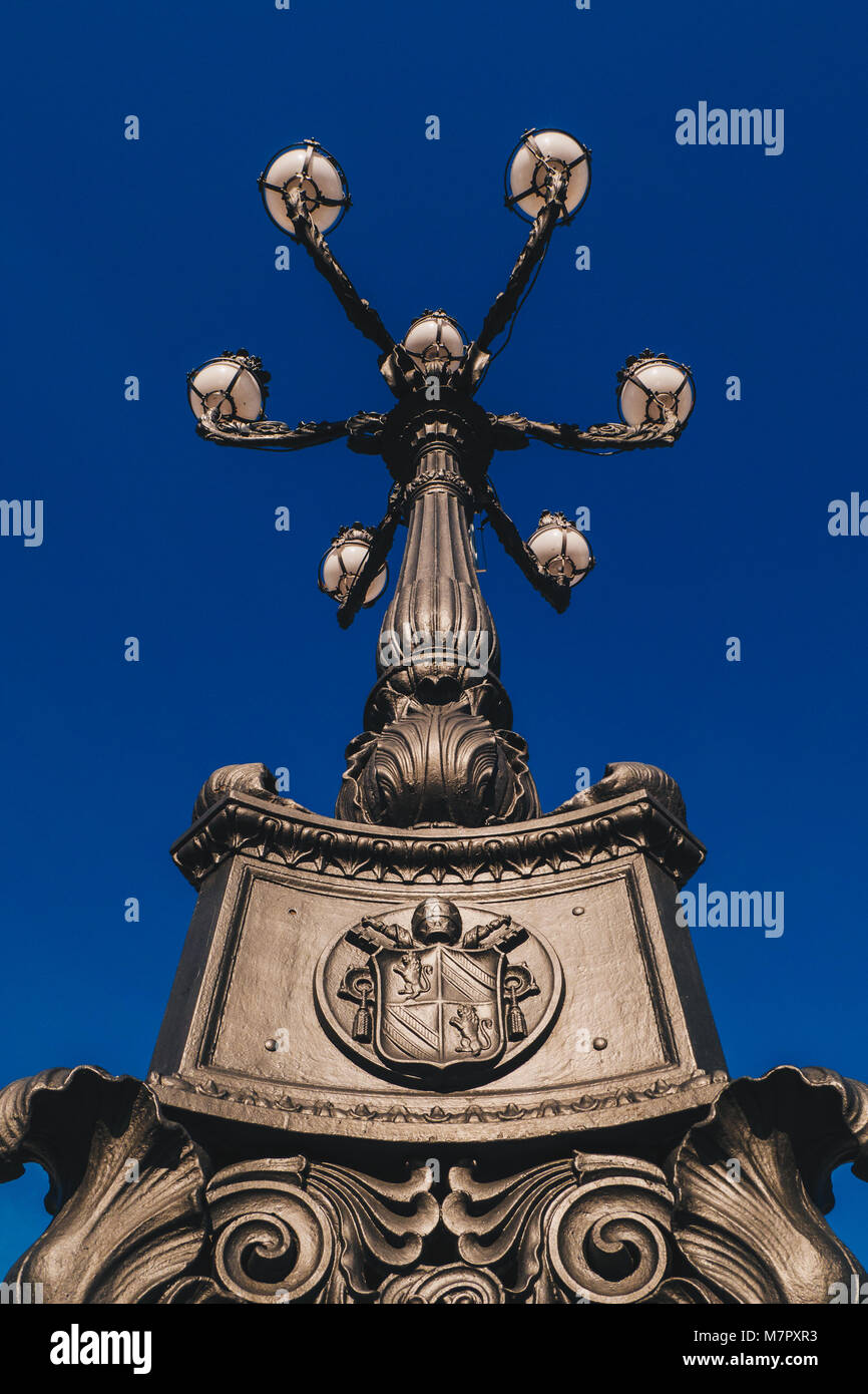 St. Peter's square Vatican symbol detail in Saint Peter's Square, Vatican City, Rome, Italy - Stock Image