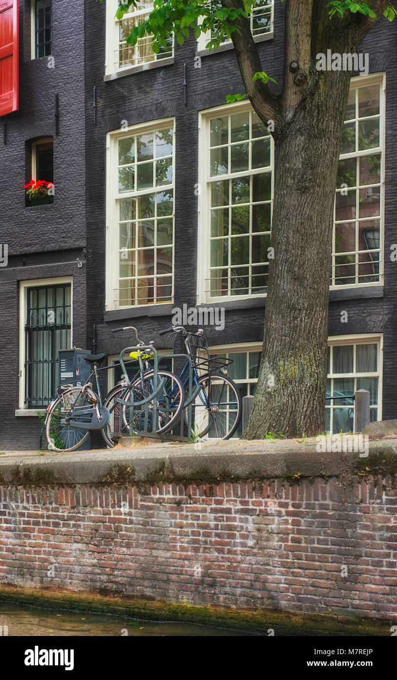 Bicycles in Amsterdam, the Netherlands - Stock Image
