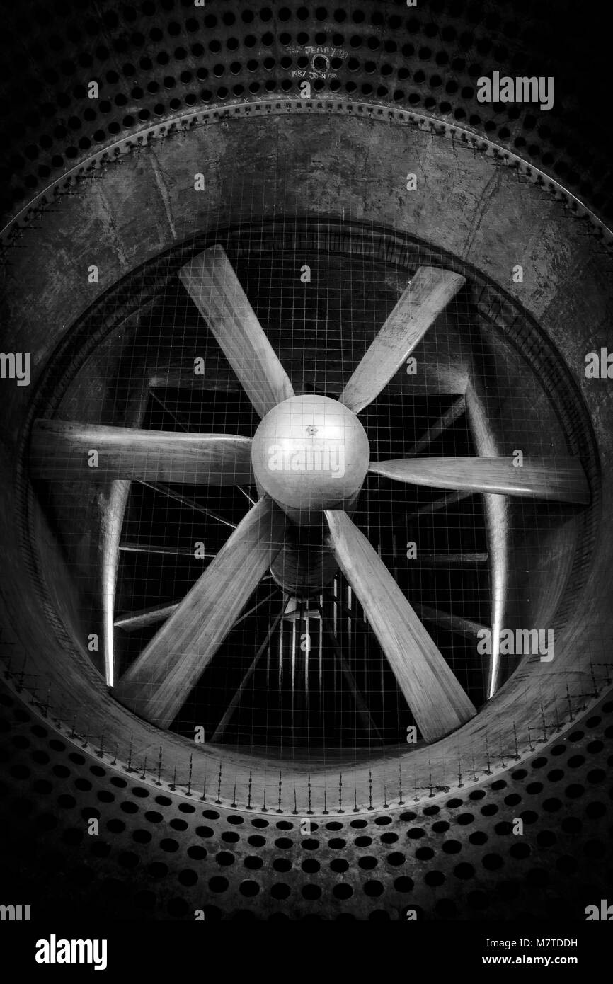 The 24ft low speed Wind Tunnel built in 1917 Farnborough, Used to test areodynamic properties of War Time planes - Stock Image