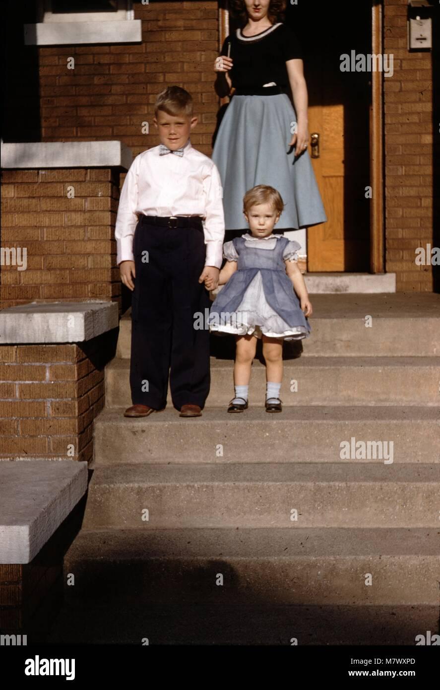 Vintage archival photograph taken in 1960 - Stock Image