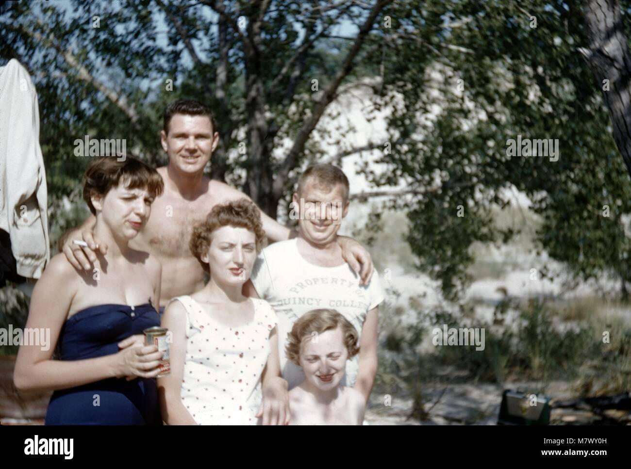 Vintage archival photograph taken in 1970 - Stock Image