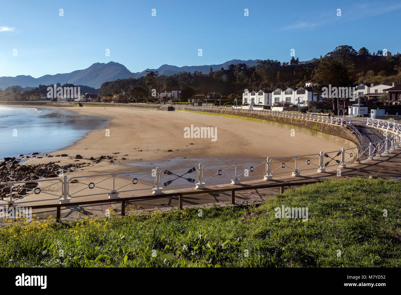 The waterfront at Rabadesella in the Asturias region of northern Spain - Stock Image