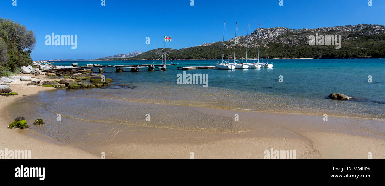 Baja Sardinia near Palau on the northeast coast of the Island of Sardinia - Italy - Stock Image