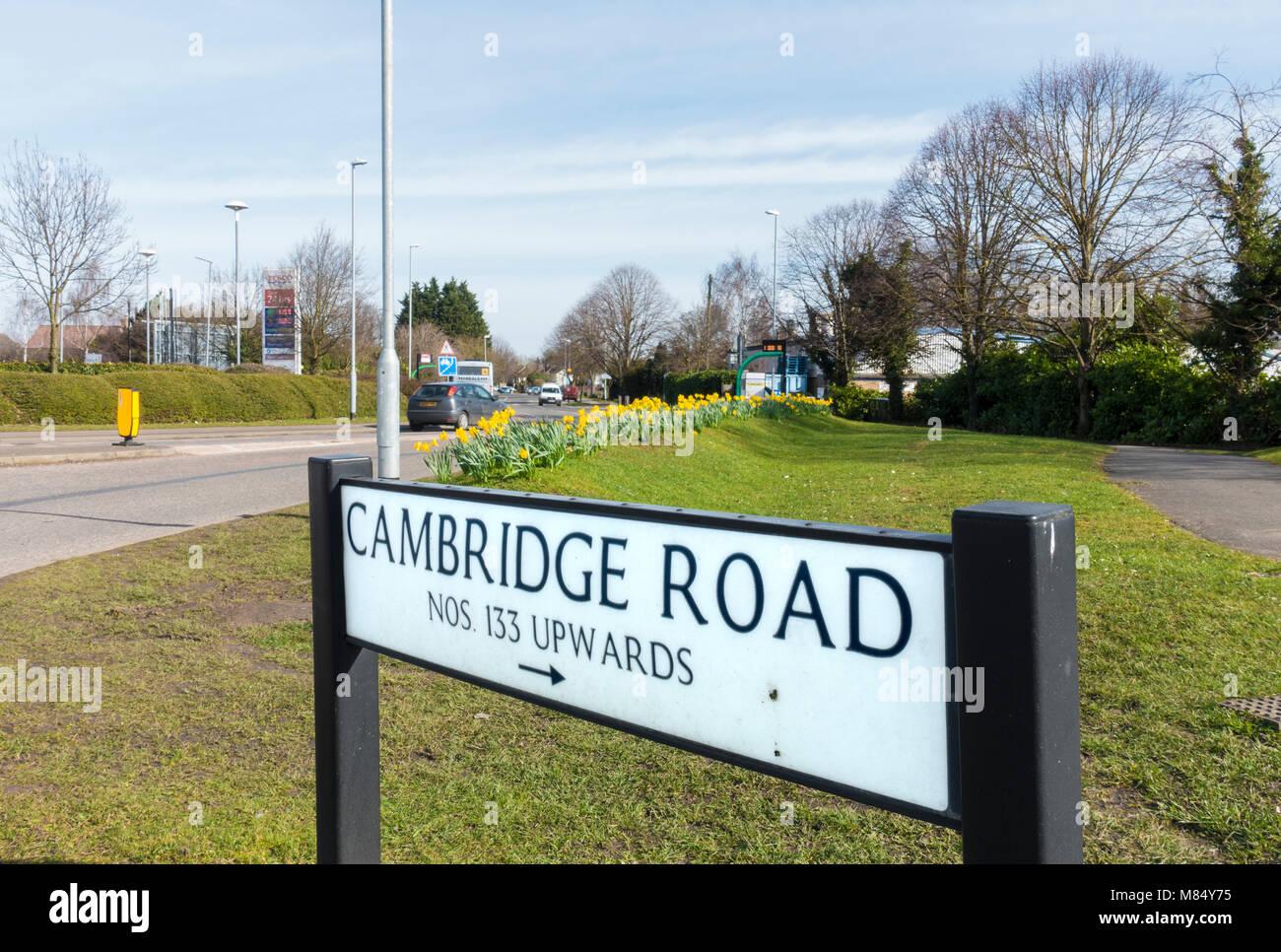 cambridge-road-sign-milton-M84Y75.jpg
