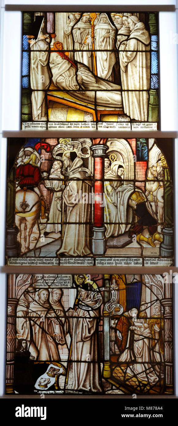 Stained glass. Cistercian Monastery of Altenberg. Cologne, Germany. Master of St. Severin, 1505-1520. Schnütgen - Stock Image