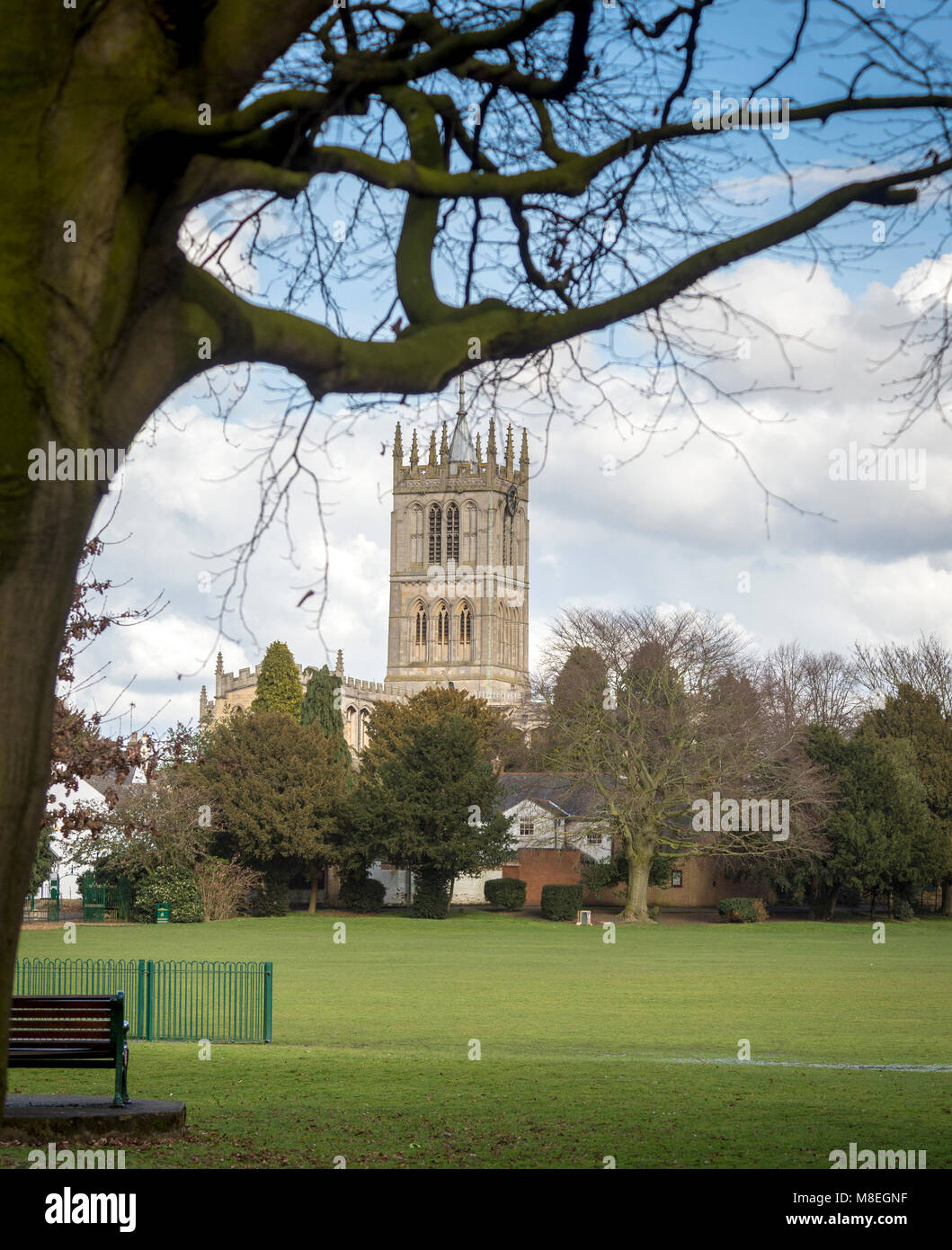 Melton Mowbray 16th March 2018: Blue skys and clouds mild day with warm spells of sunshine people and wildlife enjoy - Stock Image