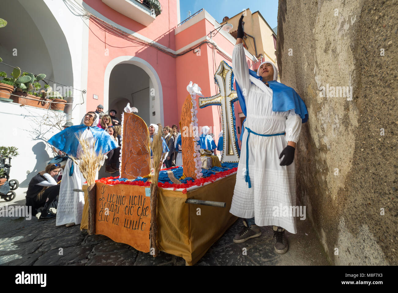 PROCIDA, ITALY - MARCH 25, 2016 - Every year the procession of the 'Misteri' is celebrated at Easter's - Stock Image