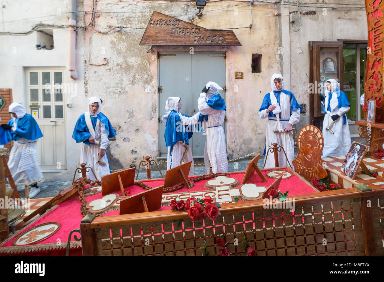 PROCIDA, ITALY - MARCH 25, 2016 - The procession of the 'Misteri'celebrated at Easter's Good Friday - Stock Image