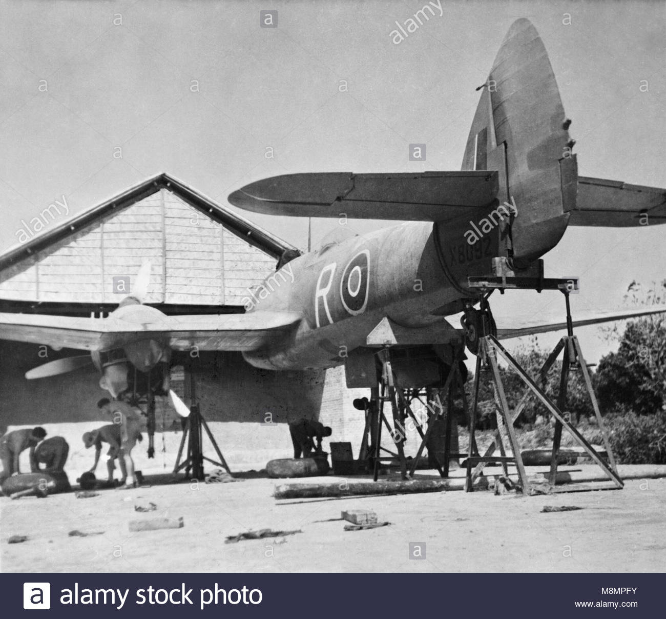 Royal Air Force Operations in the Far East, 1941-1945. Bristol Beaufighter Mark VIF, X8092 'R', of No. 27 - Stock Image