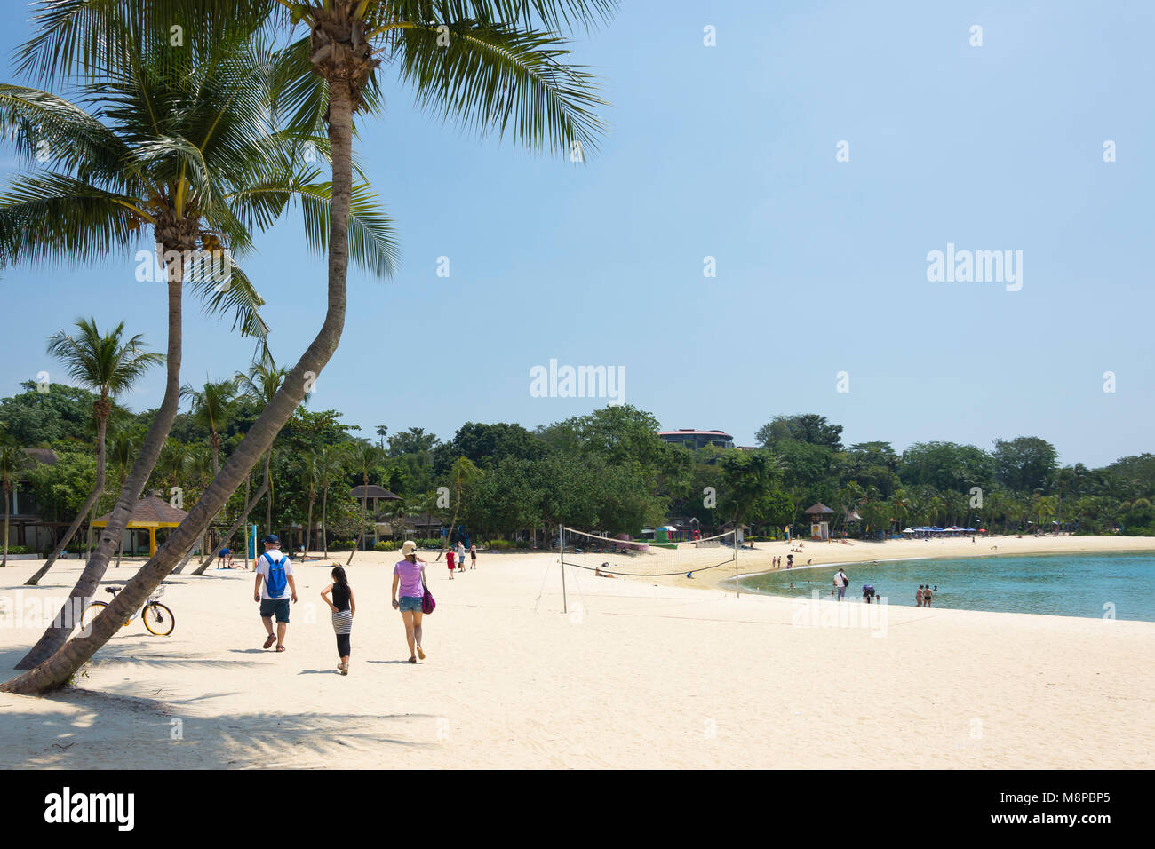 Palawan Beach, Sentosa Island, Central Region, Singapore Island (Pulau Ujong), Singapore - Stock Image