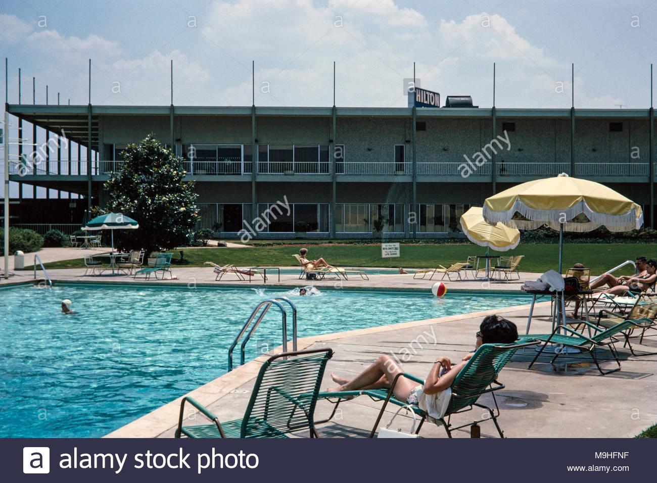 People Sunbathing 1960s Stock Photos People Sunbathing