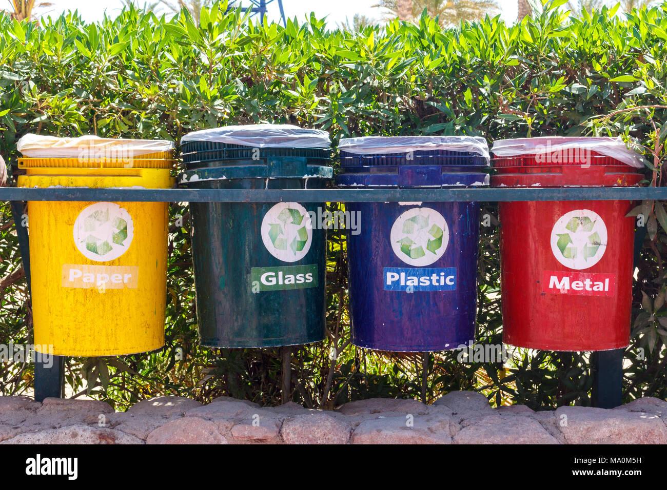colorful waste bins stock photos  u0026 colorful waste bins