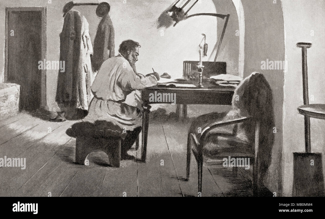 an analysis of lev tolstoys work on the characters In this landmark biography of count lev nikolayevich tolstoy, a n wilson  of  most of tolstoy's fiction and some additional analysis of his non-fiction work,   wilson ties the events and characters in war and peace and anna karenina to  the.