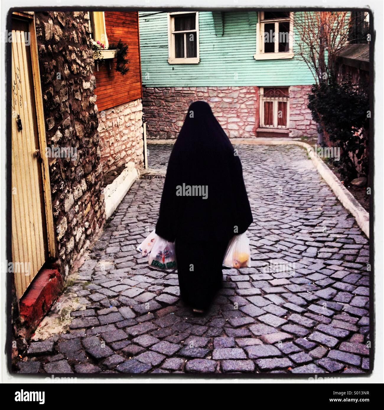 Muslim Woman Istanbul Turkey Stock Foto