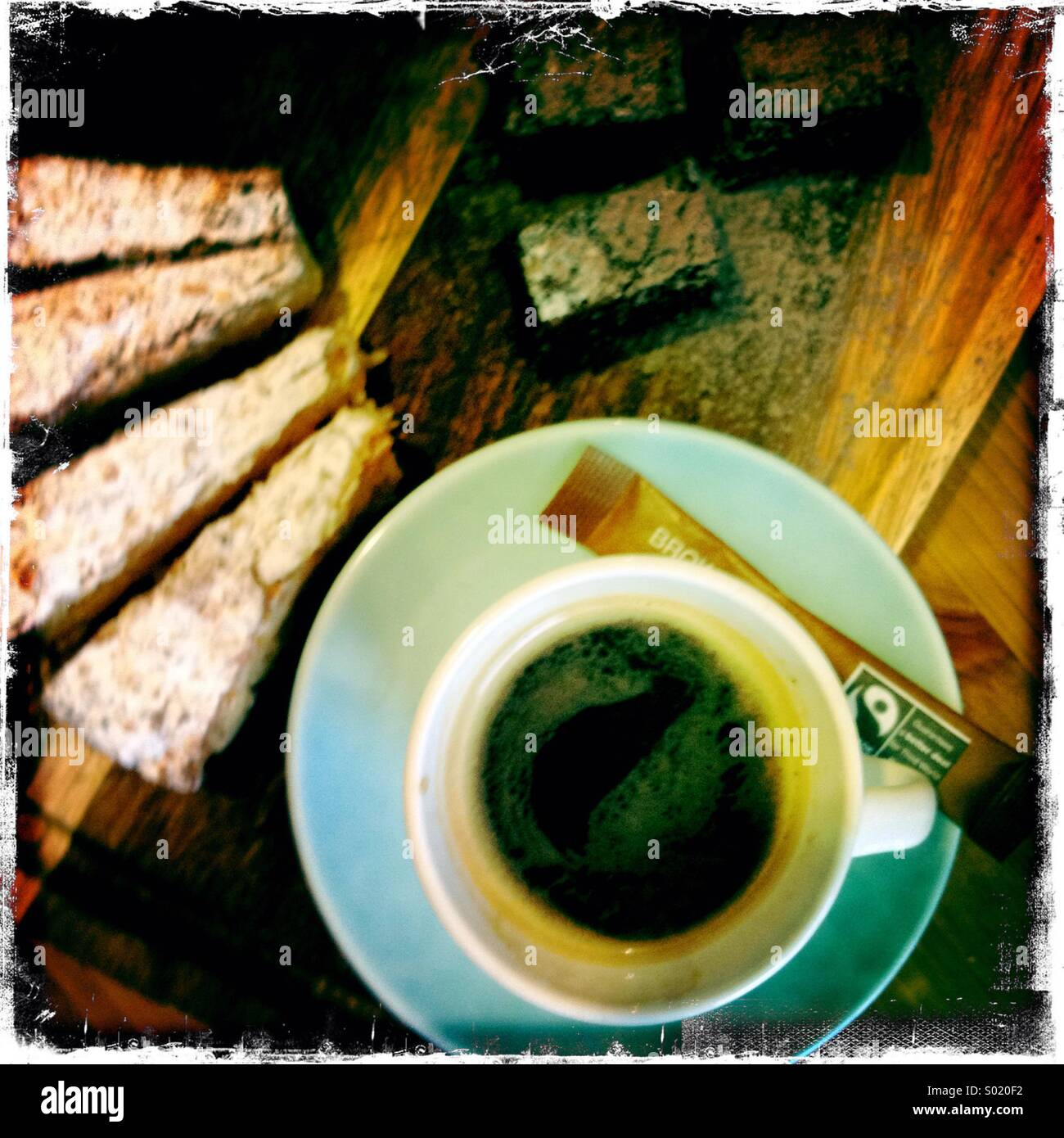 Expresso and slice of cake Stock Foto