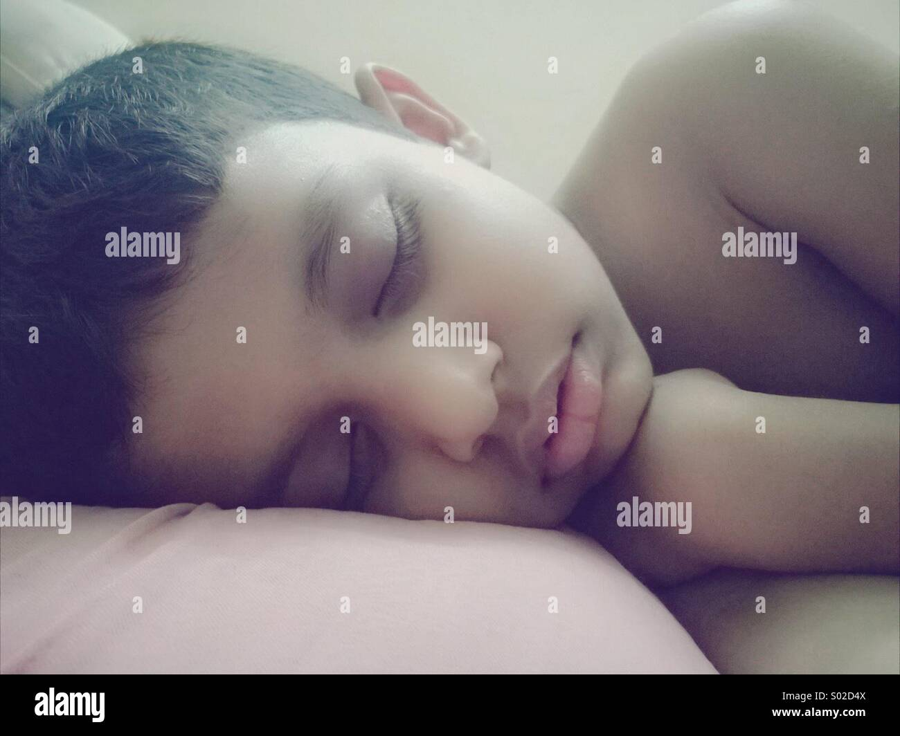 Boy sleeping Stock Photo