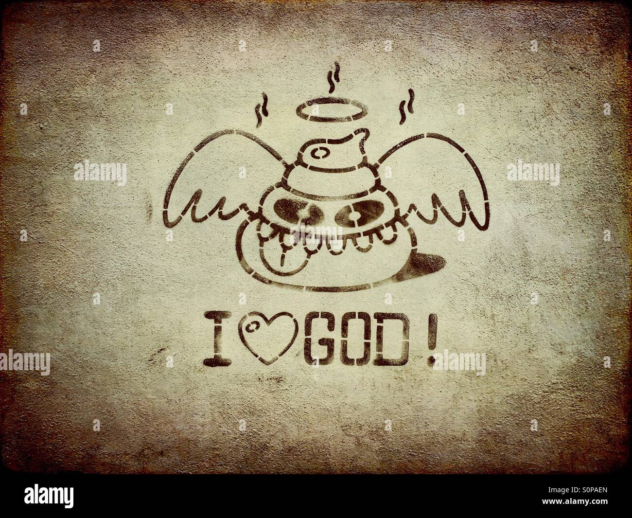 I love God graffiti Stock Photo, Royalty Free Image ...