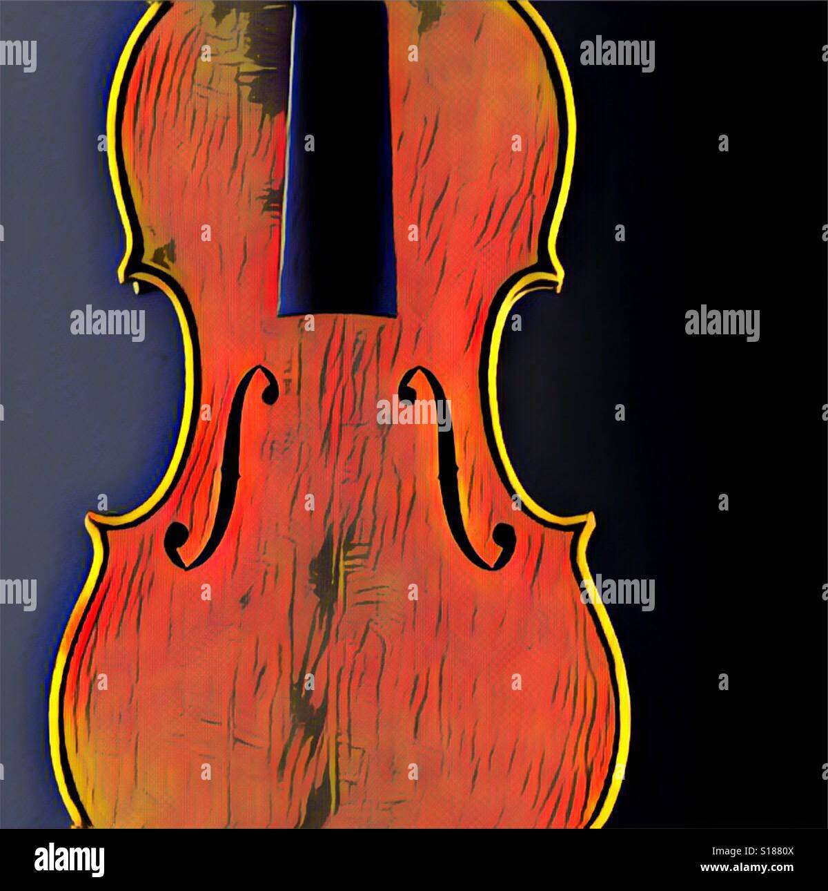 Filtered stradivarius violin Stock Photo