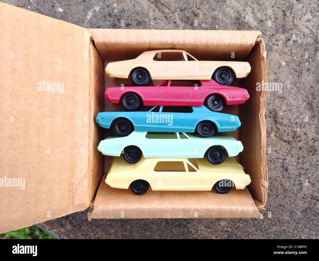 Five 1967 Mercury Cougar toy model cars Stock Photo