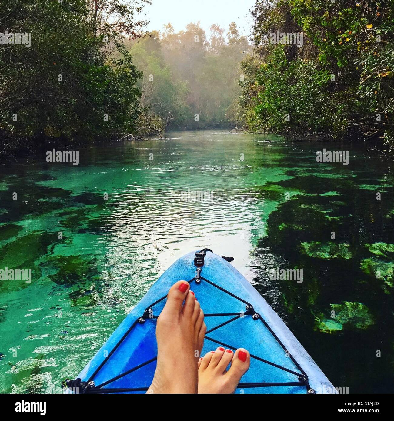 Kayaking on the Weeki Wachee Springs Stock Foto