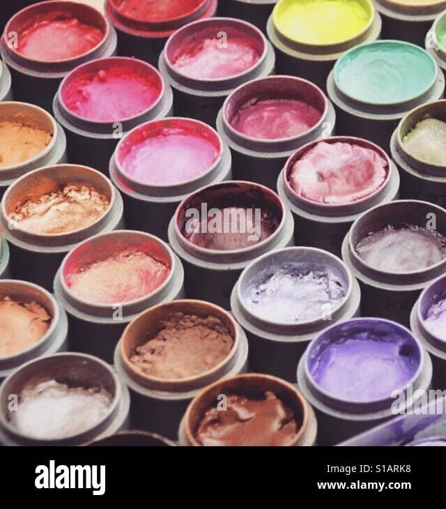 Make up artists palette Stock Foto