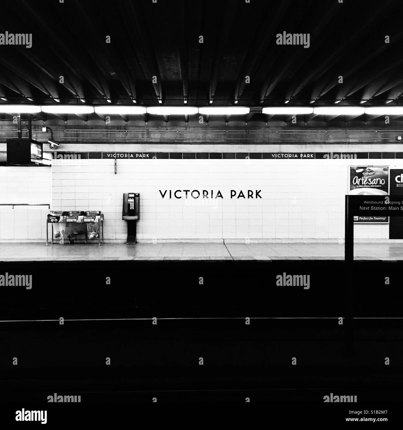 Toronto Victoria Park Subway Station Stock Foto