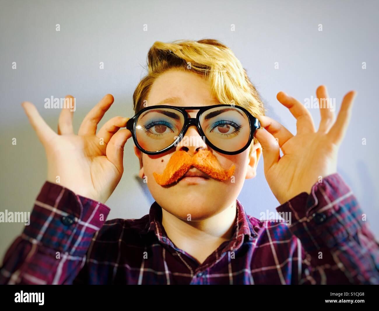 Comedy glasses & moustache Stock Foto