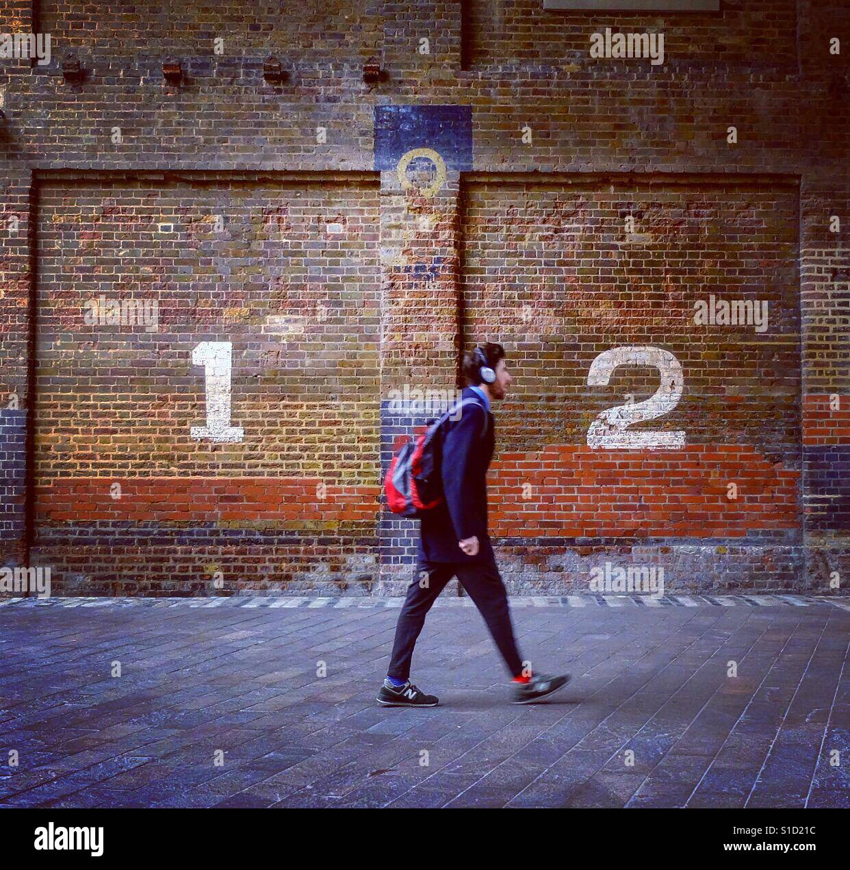 Granary Square, Kings Cross, London. Stock Foto