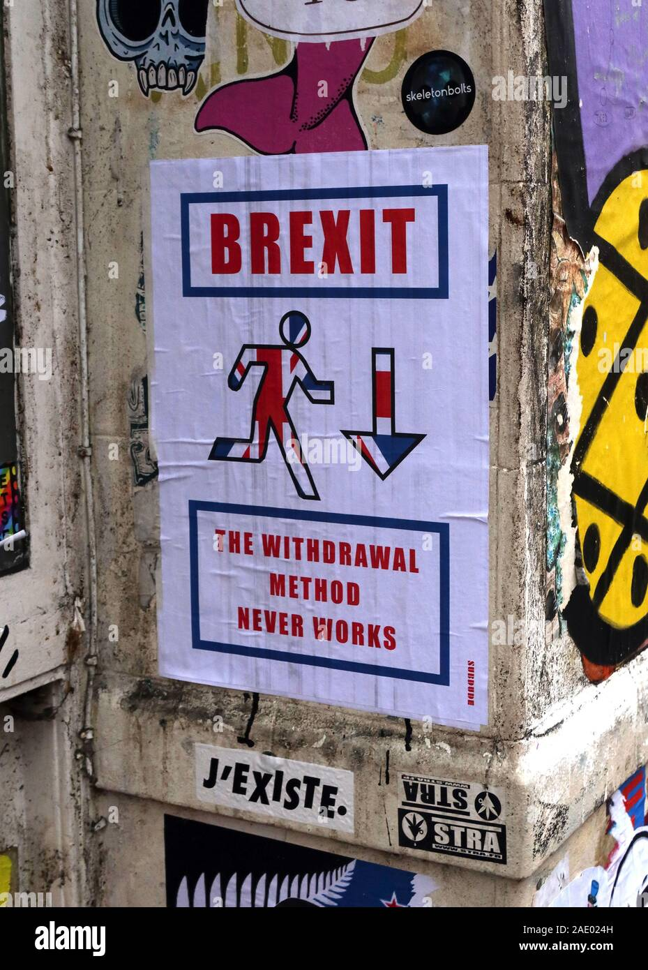 Dieses Stockfoto: Brexit,die Austrittsmethode,funktioniert nie,Brick Lane,East End,London,England,UK, E1 - 2AE024