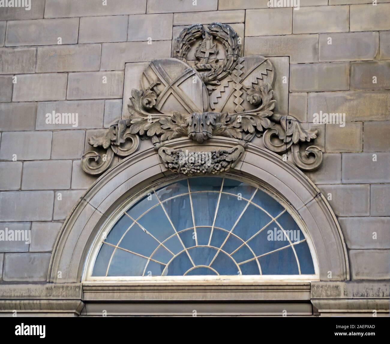 Dieses Stockfoto: Historisches Gebäude am Eingang des Bahnhofs Old Curzon Street, HS2-Entwicklung, Birmingham, Curzon Street, Birmingham, West Midlands, England, Großbritannien, B5 5LG - 2AEPXA